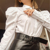 Charm & Wit Boutique: Top 10 Chic Styles For Fall | Retro White Blouse