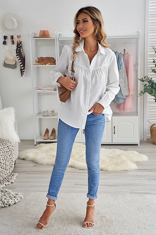 Top 10 Chic Styles For Fall | White Collared Shirt