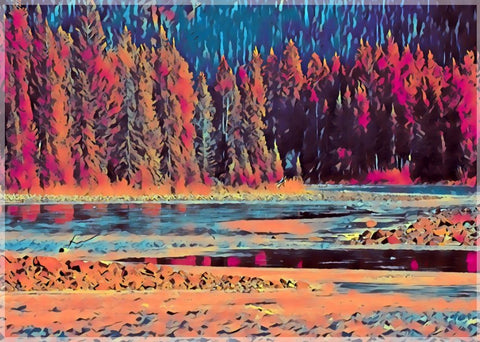 Bow Valley in water colors  by Schmidt