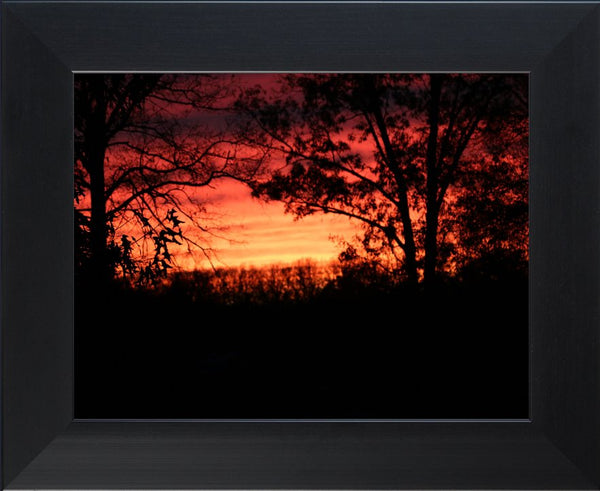 A Red Arkansas Sunset in a 10 x 13 Print with Frame - Schmidt Fine Art Gallery