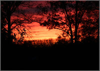 A Red Arkansas Sunset in a 5 x 7 Print - Schmidt Fine Art Gallery