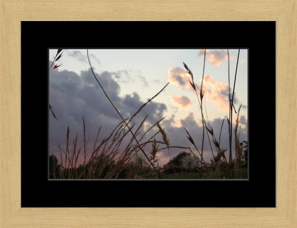 A Wild Evening by Lowe in a 10 x 15 print Framed with mat in a Blonde Maple Frame - Schmidt Fine Art Gallery