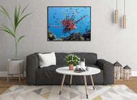 Aquarium in the Sea with a Lion on the Prowl in a 16 x 20 Canvas - Schmidt Fine Art Gallery