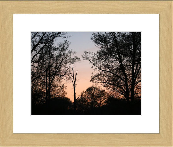 Arkansas Sunset in a 10 x 13  Print Framed in a Blonde Maple Frame - Schmidt Fine Art Gallery