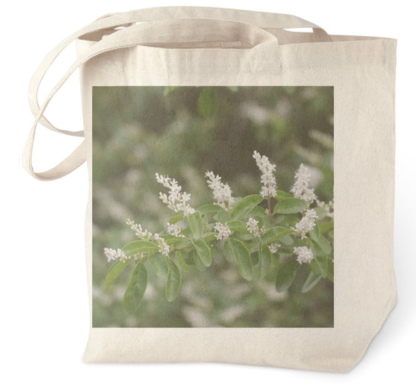 Arkasnsas Spring White Flowers 2 by Murchison Tote Bag - Schmidt Fine Art Gallery