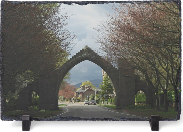 Austrian Arch on a 8 x 12 piece of Slate by Schmidt - Schmidt Fine Art Gallery