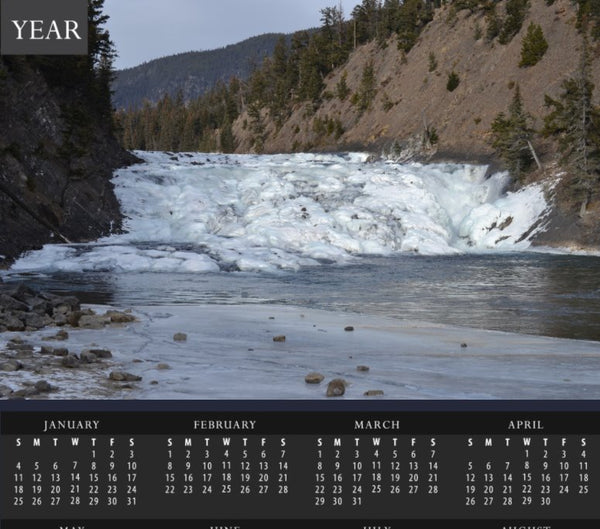 Banff National Park Waterfall and Ice Dam Calendar - Schmidt Fine Art Gallery