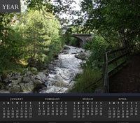 Brook During Spring in Scotland Calendar - Schmidt Fine Art Gallery