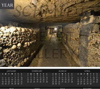 Catacombs of Paris Calendar - Schmidt Fine Art Gallery
