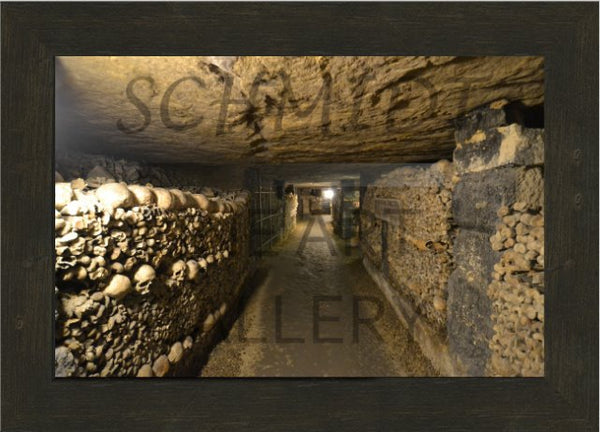 Catacombs of Paris in a 10 x 15 Print Framed in an Espresso Walnut Frame - Schmidt Fine Art Gallery