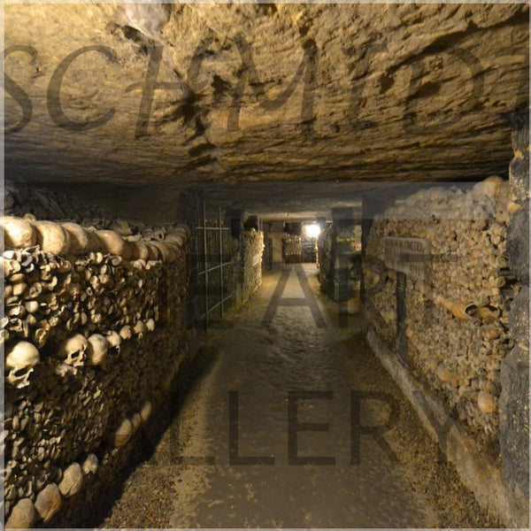 Catacombs of Paris in a 16 x 16 Acrylic Print - Schmidt Fine Art Gallery