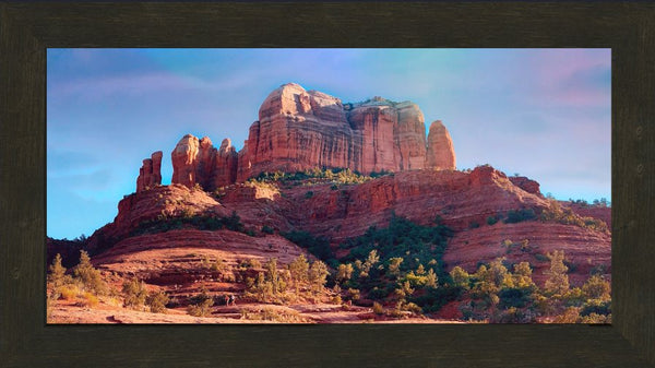 Cathedral Rock by Ramirez  in a 10 x 20 wide print framed - Schmidt Fine Art Gallery
