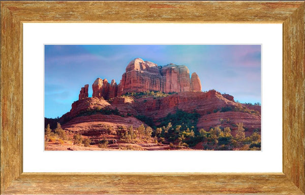 Cathedral Rock in a 10 x 20 Framed Print - Schmidt Fine Art Gallery