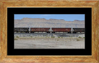 Desert Train by Lowe in a 10 x 20 print Framed with mat in a Gold Ornate Frame - Schmidt Fine Art Gallery