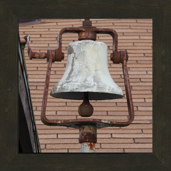 Dinner Bell in a 12 x 12 Print in an Espresso Walnut Frame - Schmidt Fine Art Gallery