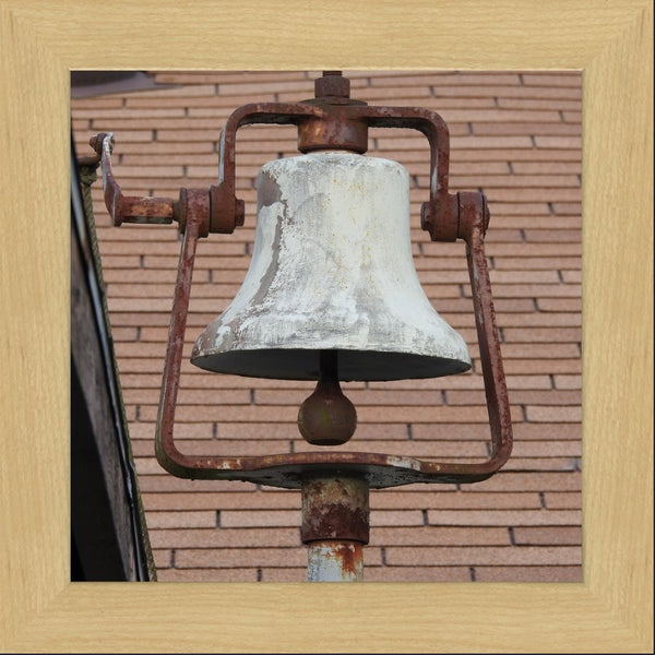 Dinner Bell in a 12 x 12 Print in a Blonde Maple Frame - Schmidt Fine Art Gallery