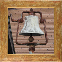 Dinner Bell in a 12 x 12 Print in a Gold Accent Frame - Schmidt Fine Art Gallery
