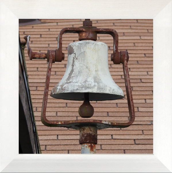 Dinner Bell in a 12 x 12 Print in a Flat White Metal Frame - Schmidt Fine Art Gallery