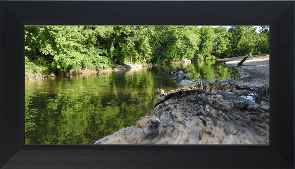 Low Flow in a 10 x 20 Print in a Flat Black Frame - Schmidt Fine Art Gallery