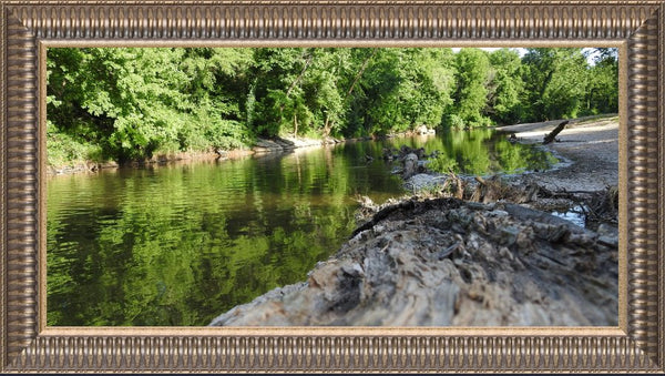 Low Flow by Lowe in a 10 x 20 Print Framed in a Pewter Ribbed Frame - Schmidt Fine Art Gallery