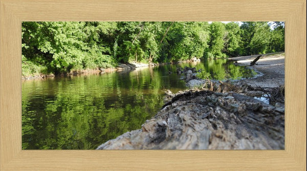 Low Flow in a 10 x 20 Print in a Blonde Maple Frame - Schmidt Fine Art Gallery