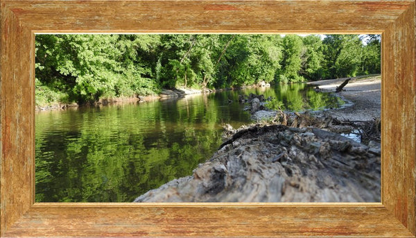 Low Flow by Lowe in a 10 x 20 Print Framed in a Gold Accent Frame - Schmidt Fine Art Gallery