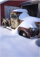Midwest Snow Covered Truck by Lowe in an 5 x 7 Print - Schmidt Fine Art Gallery