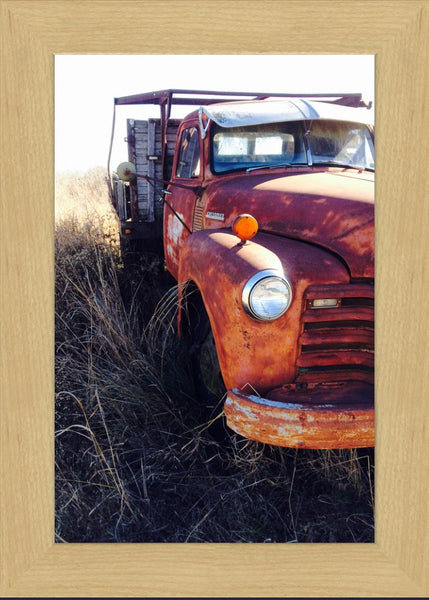 Missouri Rusting Truck by Lowe in a 10 x 15 Print Framed - Schmidt Fine Art Gallery