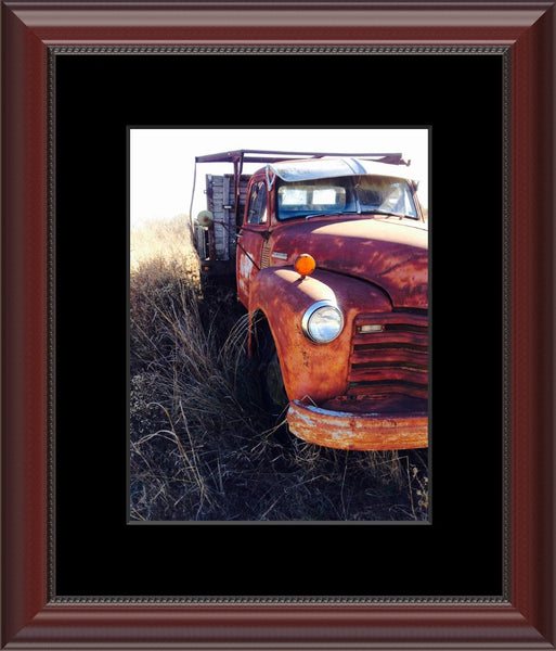 Missouri Rusting Truck by Lowe in a 8.5 x 11 Print Framed with Mat - Schmidt Fine Art Gallery