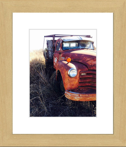Missouri Rusting Truck in a 8.5 x 11 Print Framed with mat - Schmidt Fine Art Gallery