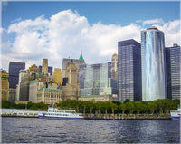 New York Skyline from the Hudson by Schmidt in a 8 x 10 Unframed Print - Schmidt Fine Art Gallery