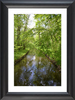 Nymphenburg Palace Garden Canal in a 20 x 30 Framed Print with white mat - Schmidt Fine Art Gallery