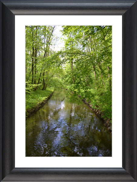 Nymphenburg Palace Garden Canal in a 20 x 30 Print Framed with White Mat - Schmidt Fine Art Gallery