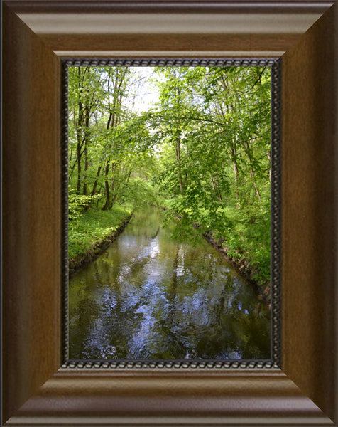 Nymphenburg Palace Garden Canal in a 5 x 7 Print Framed - Schmidt Fine Art Gallery