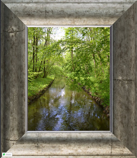 Nymphenburg Palace Garden Canal in a 8 x 10 Print Framed - Schmidt Fine Art Gallery