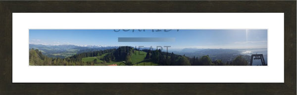 Panaramic of the Austrian Alps Overlooking lake constance in Germany in a Ultra Wide 5 x 30 Print - Schmidt Fine Art Gallery