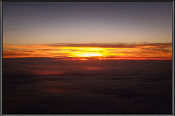 Sunset at 40k Feet 10 x 15 Print in a Black Metal Frame - Schmidt Fine Art Gallery