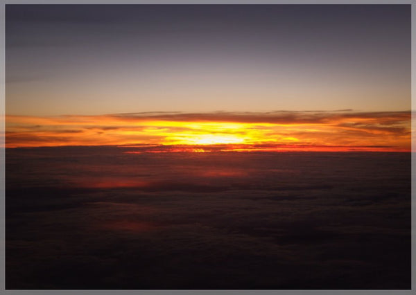 Sunset at 40k Feet 5 x 7 Print - Schmidt Fine Art Gallery