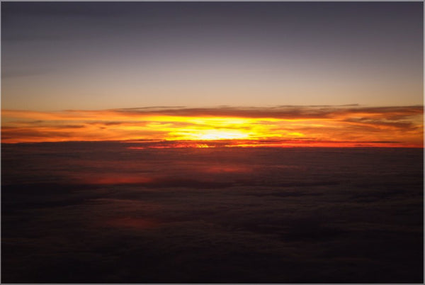 Sunset at 40k Feet in a 16 x 24 Poster - Schmidt Fine Art Gallery