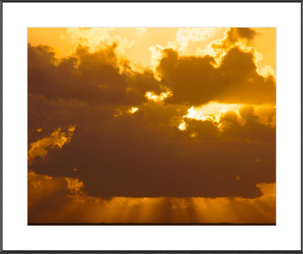 Sunset in the Coral Sea in a 16 x 20 frame with mat - Schmidt Fine Art Gallery