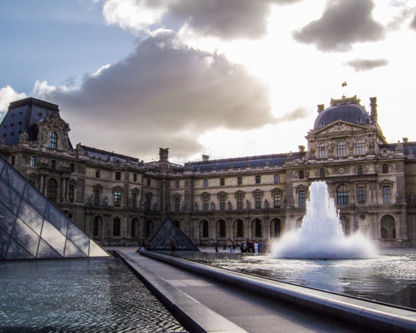 The Louvre Fountain by Schmidt in a in a 16 x 20 Canvas - Schmidt Fine Art Gallery