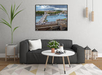 The River Tiber in Rome in a 16 x 20 Canvas - Schmidt Fine Art Gallery
