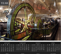 Tower Bridge Steam Engine Calendar - Schmidt Fine Art Gallery