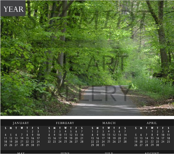 Trail on the banks of the Tauber River Calendar - Schmidt Fine Art Gallery