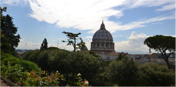 Vatican Gardens with St. Peter's Basilica in a 20 x 10 Wrap - Schmidt Fine Art Gallery