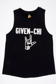 New! Given-Chi Women's Tank Black