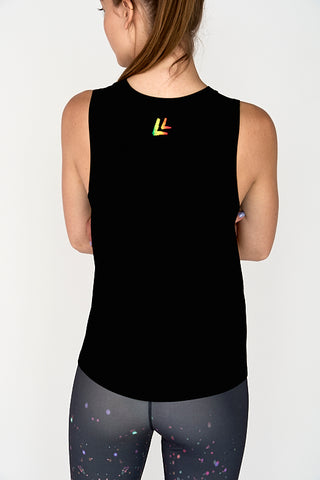 NEW! More Glitter Less Bitter Women's Tank Black
