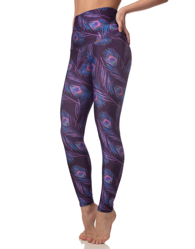 NEW! LL+Emily Neon Peacock Leggings