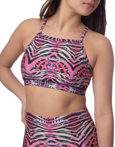NEW! LL+Emily Pink Tiger Bralette