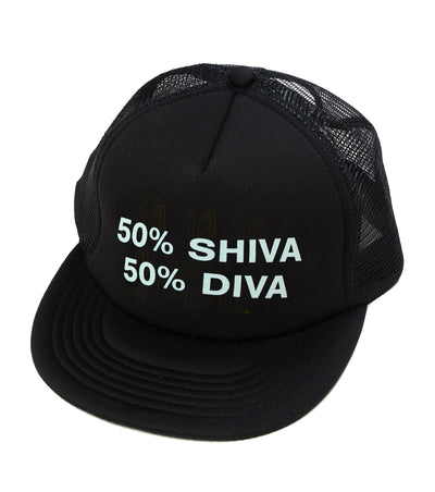 50% Shiva 50% Diva Trucker Hat Black